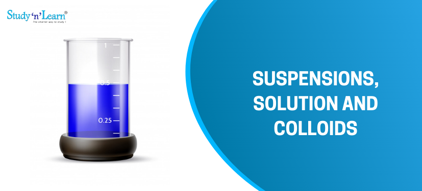 Suspension, Solution and Colloids