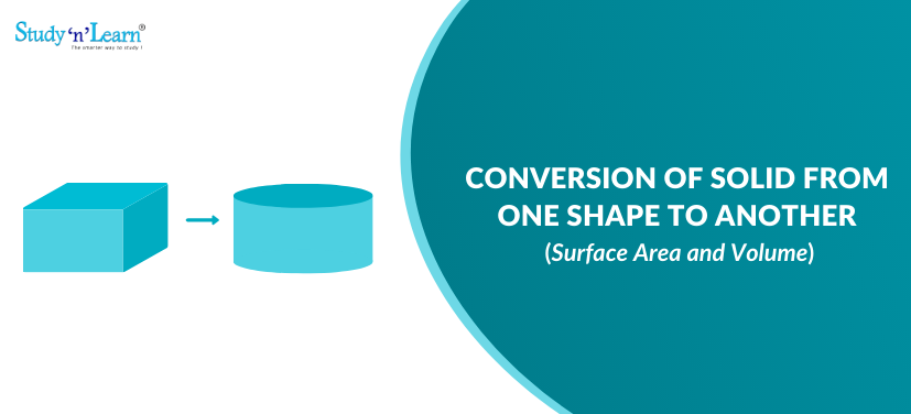 Conversion of Solid from One Shape to Another - Surface Area and Volume